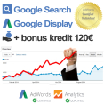Profesionálna PPC kampaň Google Search + Display + Analytics + Kredit 120€ // 1 mesiac