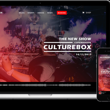 Web design - website for DJs, artists, producers